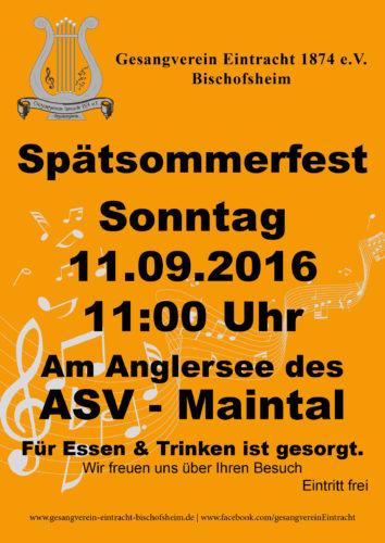 Spätsommerfest Gesangverein Eintracht