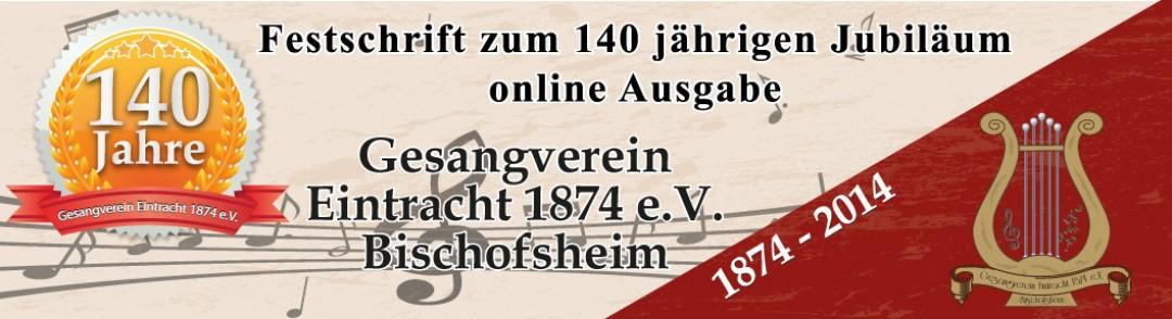 Gesangverein Eintracht 140 Jahre Festschrift online Ausgabe