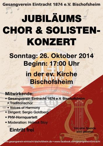 Plakat Chor Solistenkonzert